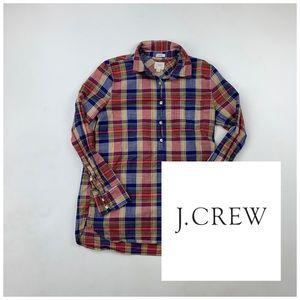 J. Crew Boy Fit Plaid Shirt